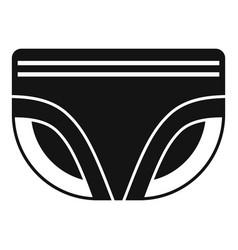 Diaper icon simple style vector