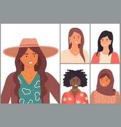 Diverse nations ethnicity latin hispanic vector