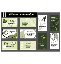 Ecology Backgrounds for business cards vector image