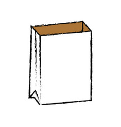 empty paper bag vector image