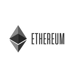 ethereum cripto currency icon vector image