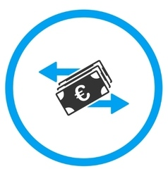 Euro Money Transfer Rounded Icon vector
