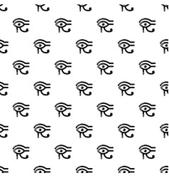 Eye horus pattern seamless vector
