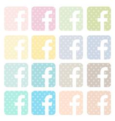 Facebook icon icons vector