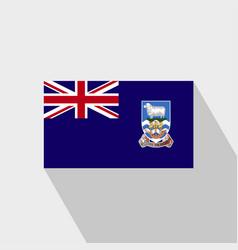 Falkland islands flag long shadow design vector