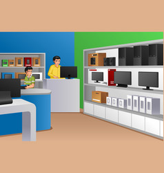 Family owned electronic store vector