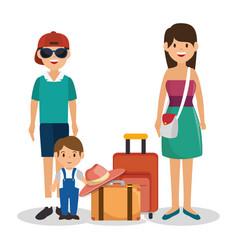 Family vacations avatars icon vector
