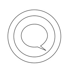 Figure symbol with chat bubble icon vector