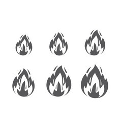 fire sprites flames symbol and sign vector image