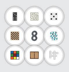 Flat icon play set of bones game backgammon dice vector