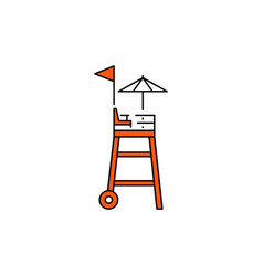 Flat icon rescue tower vector
