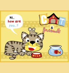 funny pets cartoon vector image