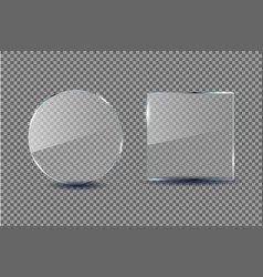 Glass frame template acrylic and plexi vector