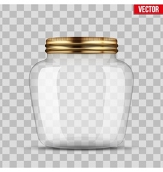 Glass Jar for canning vector image