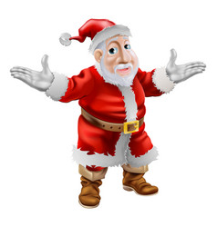 Happy cartoon santa vector