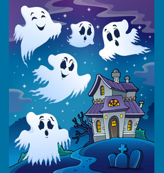 Haunted house theme image 7 vector