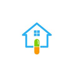 Home medicine logo icon design vector
