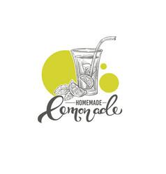 homemade lemonade hand drawn vector image