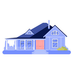 house simple cartoon town cottage icon home vector image