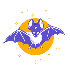 icon of the batn night vector image
