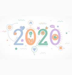 Infographic concept 2020 year vector