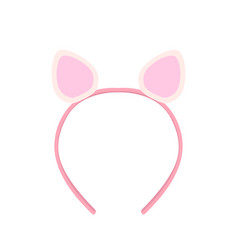 Isolated headband with rabbit ears vector
