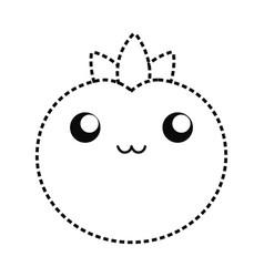 kawaii tomato vector image