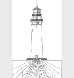 Lighthouse outline vector