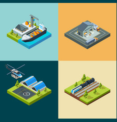 logistic concept cargo transport shipping flying vector image