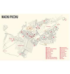 machu picchu map peru vector image