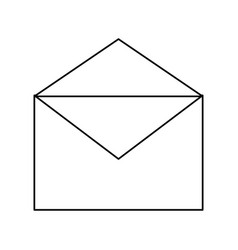 Mail envelope shipping vector