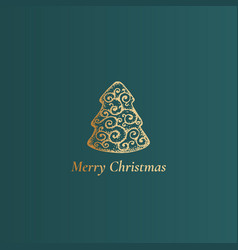 merry christmas abstract classy label sign vector image