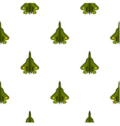 Military fighter pattern flat vector
