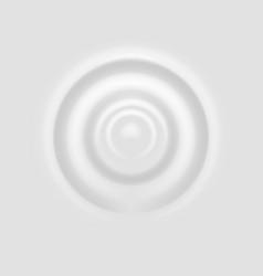 Milk splash ripple on white surface realistic vector