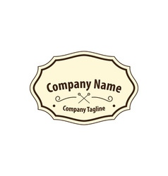 Old-fashion-label vector