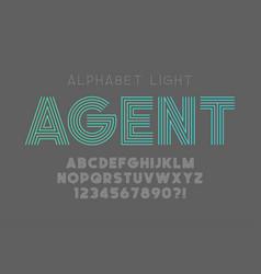 original bold alphabet creative characters set vector image