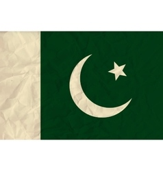 Pakistan paper flag vector image