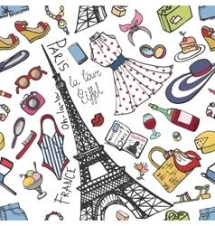 Paris France fashion seamless patternSummer vector image