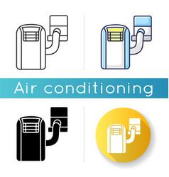 Portable air conditioner icon vector