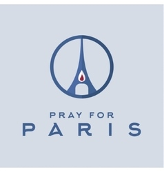 Pray for the Paris France Friday 13th November vector