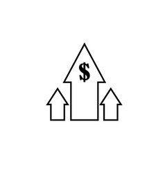 profits icon vector image