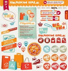 Sale labels banner icons vector