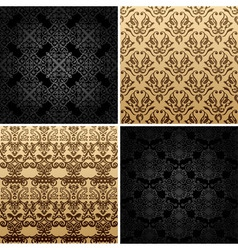 seamless set four vintage backgrounds ornament dec vector image