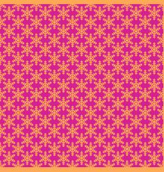 Seamless simple geometric snow flake pattern vector