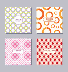 set of 4 creative cover templates vector image