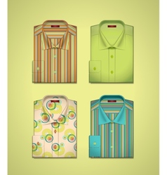 set of a colored shirts vector image