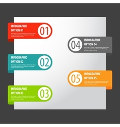 set of modern infographics options tags vector image