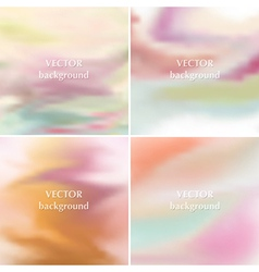 Smooth pastel romantic soft colors backgrounds vector image
