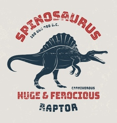 Spinosaurus t-shirt design print typography vector