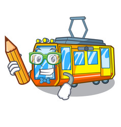 Student electric train isolated with cartoon vector